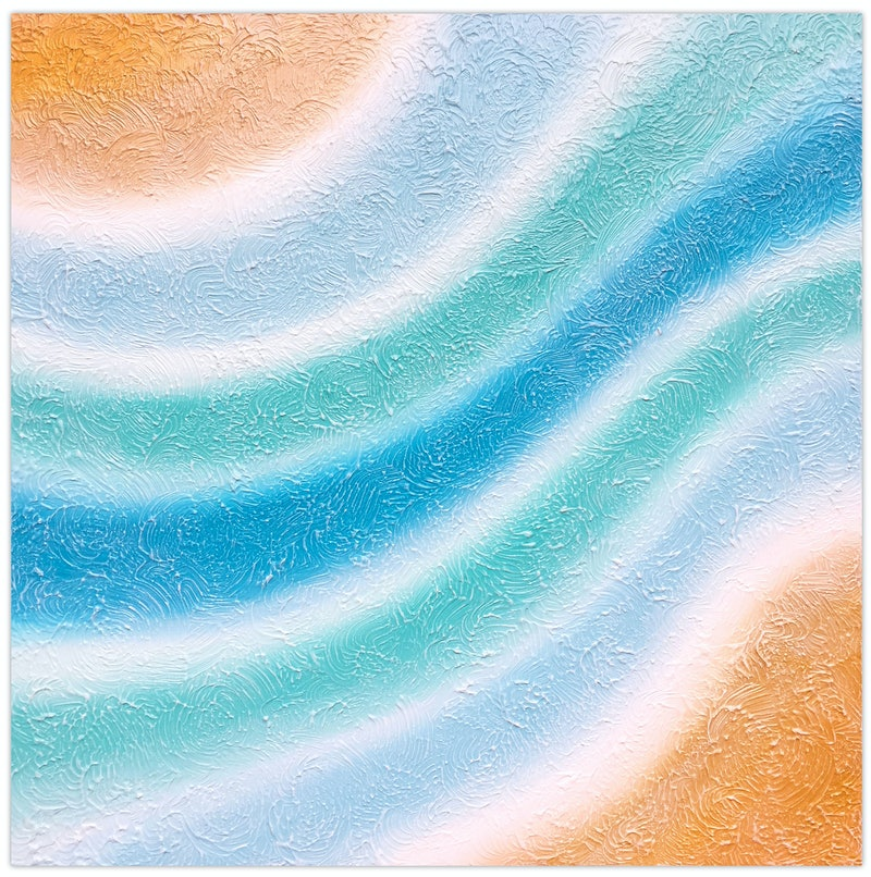 Abstract Coastal Waters - textured beach painting (save $60)