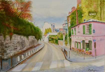 Paris Montmartre in Autumn