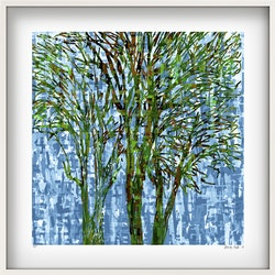 Canterbury trees in white frame george hall bluethumb art 37c5