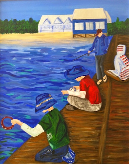 Fishing at Busso 80x60cm