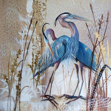 Immaculate - Blue herons