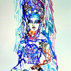 Russian snow queen jenny gil vidal bluethumb art c6c1
