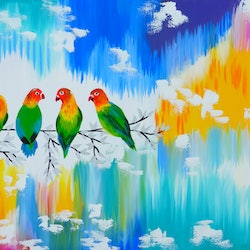Lovebirds and happiness copy cathy snow bluethumb art ee77