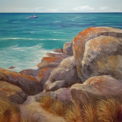 A good day for fishing bay of fires lindy whitton bluethumb art db54