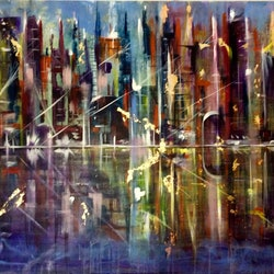You and the city lights 122x92x3 5 louise croese bluethumb art bc47