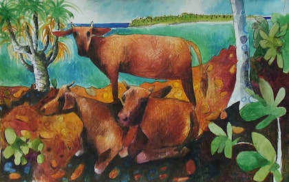Cows in Landscape