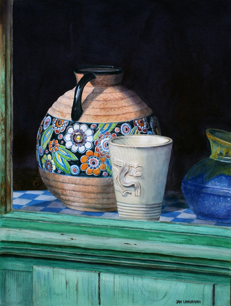 THE FRENCH POTTER'S WINDOW