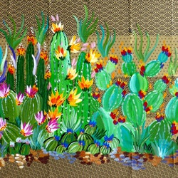 Cacti and origami cathy snow bluethumb art facd