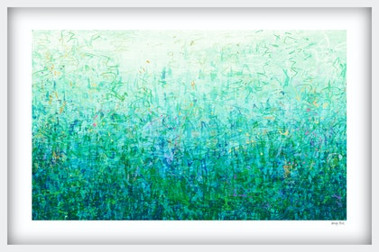 'The First Garden' in white frame   Ed. 3 of 75