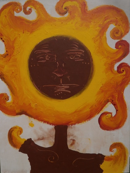 Earth and Fire (Sun People No#7 of 200)