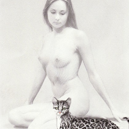 NUDE WITH OCELOT