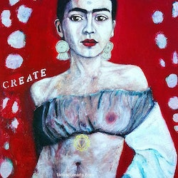 Weaving our divine creations frida kahlo artist large limited edition giclee fine art print copy tanya cole bluethumb art cd32