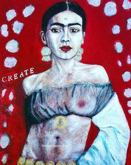 Weaving Our Divine Creations Frida Kahlo Artist Large Limited Edition Giclee Fine Art Print
