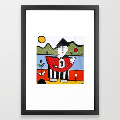CHINESE FARMER-LIMITED EDTION SIGNED FRAMED PRINT READY TO HANG. Ed. 1 of 100