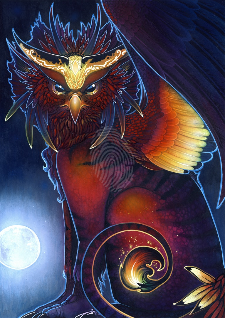 The Night Ember Gryphon