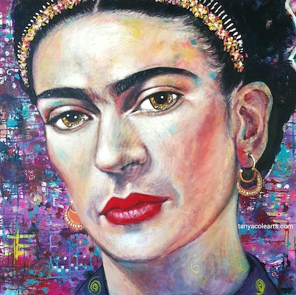 Facing Frida Limited Edition Large Giclee Fine Art Print