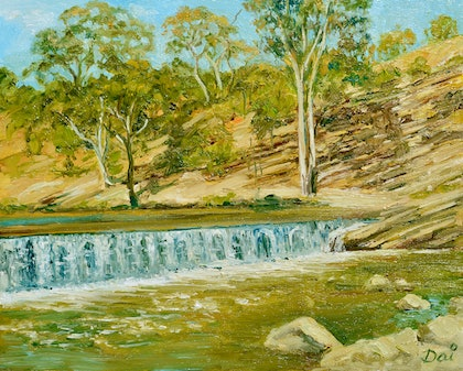 Dights Falls on the Yarra (Birrarung) River