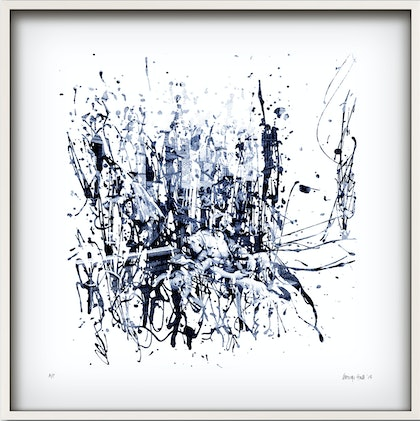 'BLUE GIN ALLEY' in white frame   Ed. 11 of 25