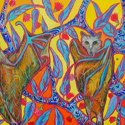 Flipping foxes katerina apale bluethumb art f10a