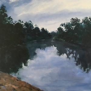 Sandy beach macintyre river meredith howse bluethumb art cbc8