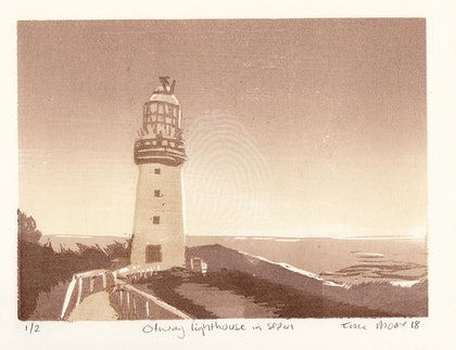 Otway lighthouse in sepia Ed. 1 of 2