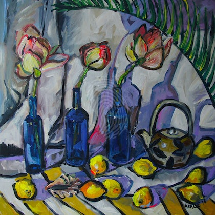 Still Life with Waterlilies