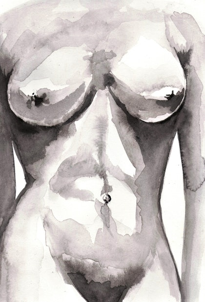 Nude Study in Watercolours 050218