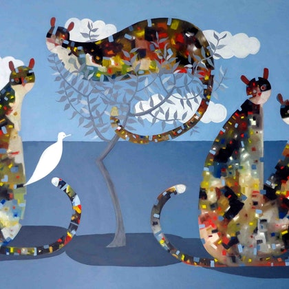 Cats and doves - Huge new work by John Graham