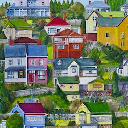 Glebe houses hobart christopher johnston bluethumb art 5a19