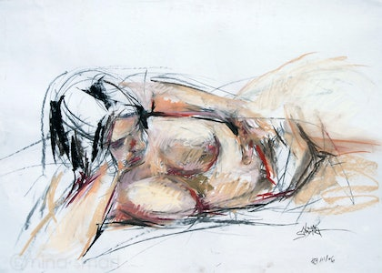 Life Drawing  - Reclining Female Nude