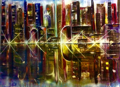 You, And The City Lights 102x76x3