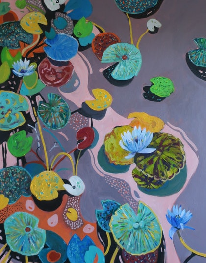 Whimsical Water Lilies
