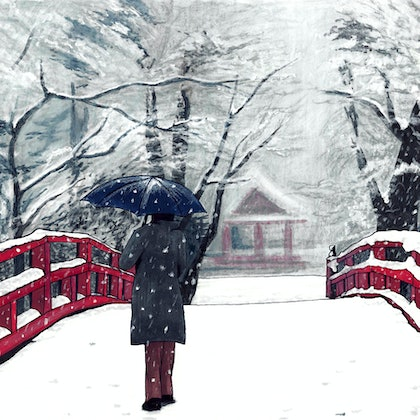 Footprints in Snow - Large Limited Edition Print Ed. 4 of 50