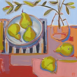 Blown glass with pears karen mcphee bluethumb art 1c53