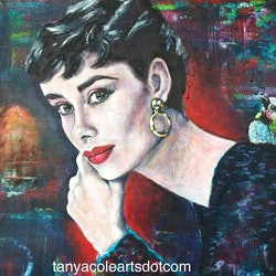 There is a bird singing only you can hear original acrylic on canvas painting tanya cole bluethumb art 7e93