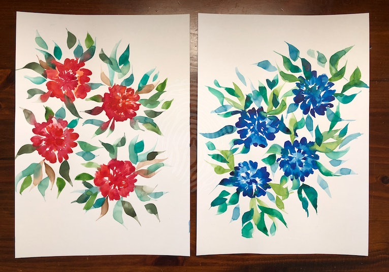 Watercolour blooms