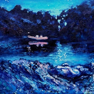 Night on the river thames ekaterina strounina bluethumb art 529f