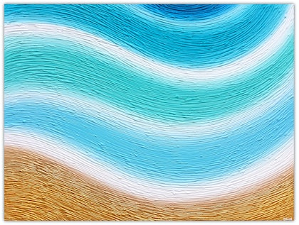 Abstract Waves - Lifes a Beach palette knife,