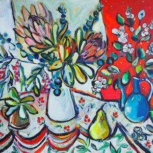 Still life with snowberries katerina apale bluethumb art ec37