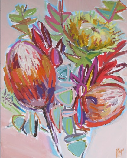 PROTEAS ON PINK