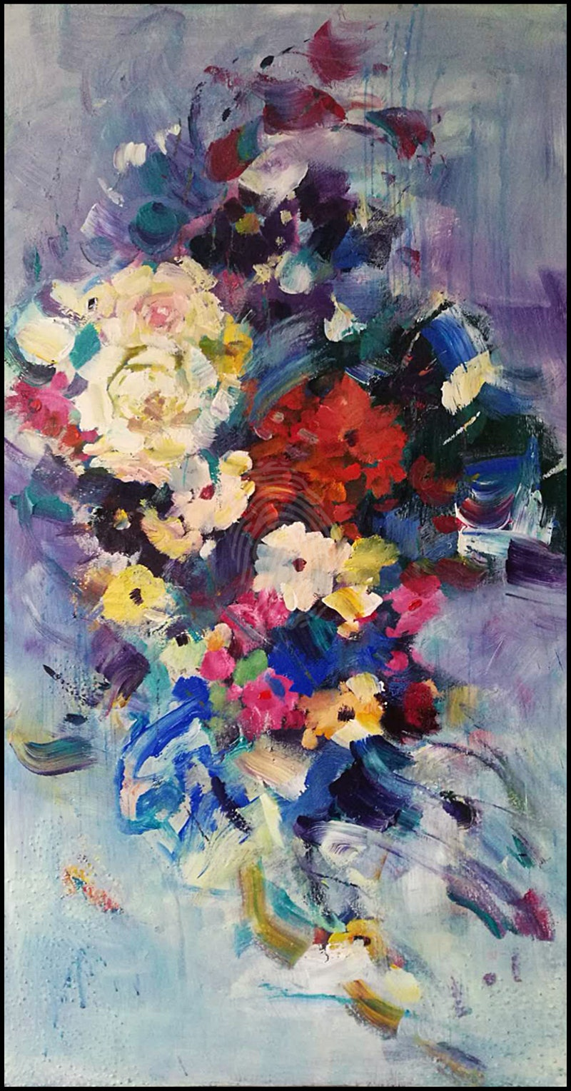 Bouquet of flowers in the wind2018