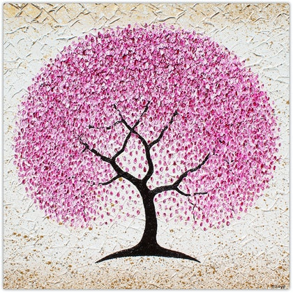Cherry Blossom Tree - textural painting