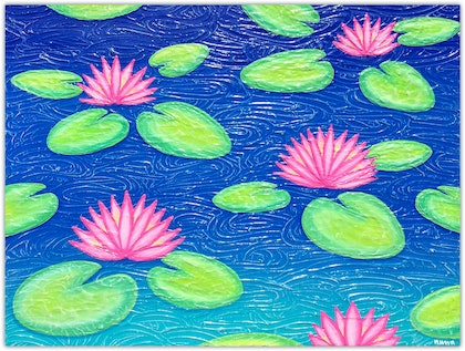 Abstract Flowers - Water Lilies (special save $200)