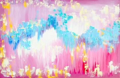 abstract pink  -  a pastel colored dream
