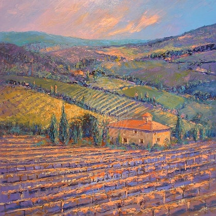 'Basking in the Tuscan Sun' Limited Edition Giclee Print