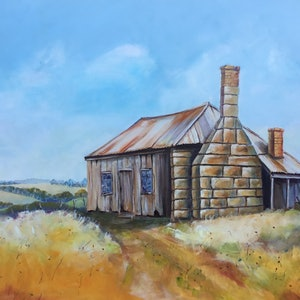 Early settlers cottage ron brown bluethumb art 4a69