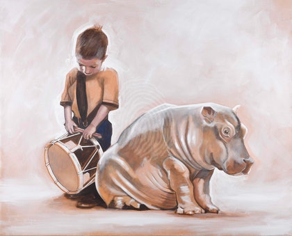 The Drumming Boy and The Hippopotamus Ed. 3 of 50