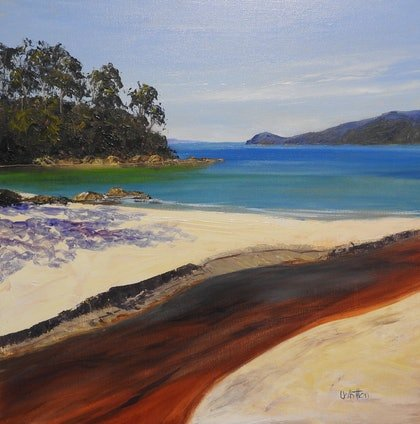 Tannin Creek - Seascape , Bruny Island , Tasmania