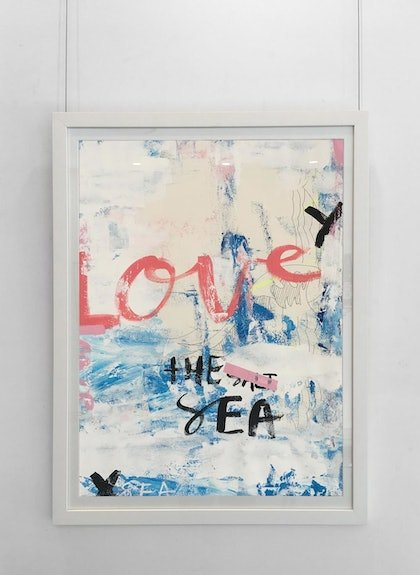 Love the Sea  - original (framed)