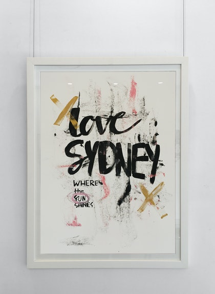 Love Sydney - original (framed)